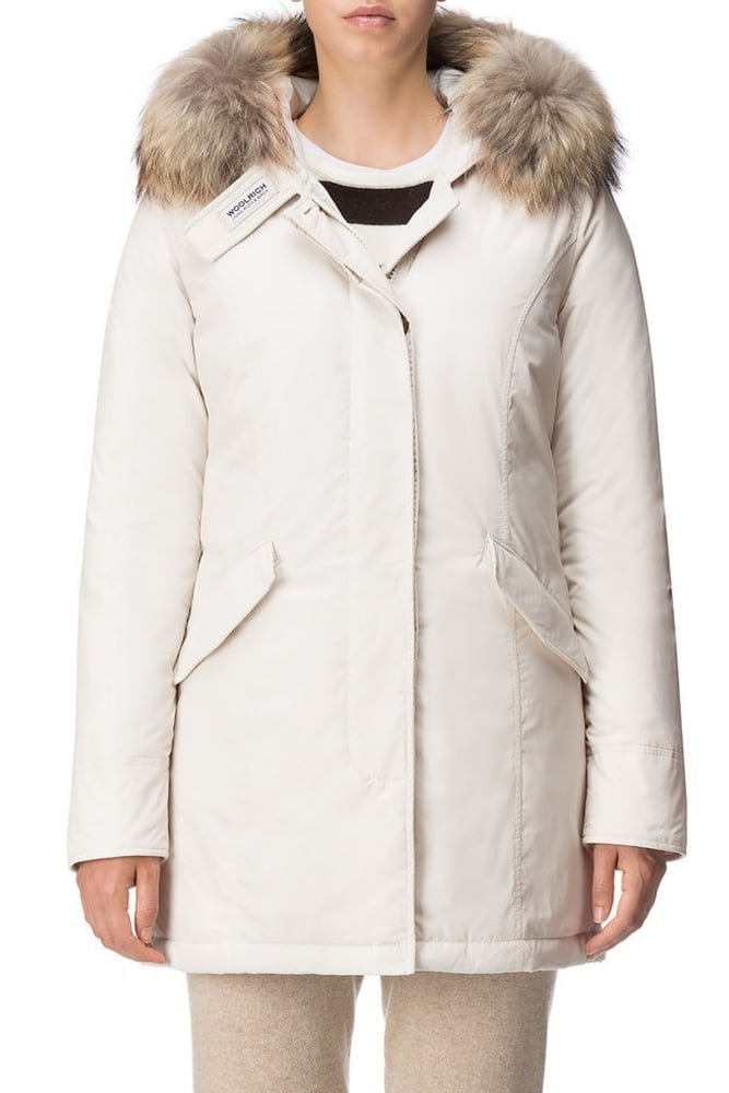 woolrich w s luxury arctic parka in frozen white at sue. Black Bedroom Furniture Sets. Home Design Ideas