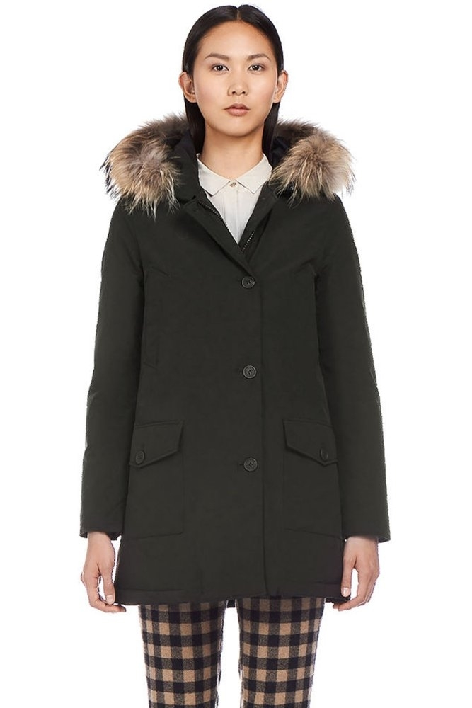 woolrich w 39 s arctic parka df in black at sue parkinson. Black Bedroom Furniture Sets. Home Design Ideas